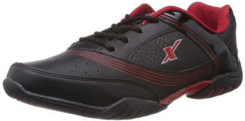 Sparx Men's Black and Red Running Shoes - 8 UK (SM-186)