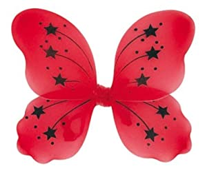 Miss Behave Fairy Wings Black/Red Adult Use Hen/Ladies Night (accesorio de disfraz)