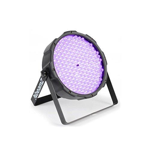 beamZ FlatPAR PAR-Scheinwerfer UV-Licht-Strahler UV-LED-Lichteffekt (186 x 10mm UV-LEDs, DMX-Steuerung, Automatik, Musiksteuerung, Wand-u. Decken-Montage geeignet)