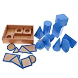 #9: Segolike Beechwood Montessori Geometric Solids Blocks Set Kids Early Learn Solid Geometry and Plane Geometry Educational Wooden Toys