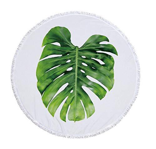 Vanzelu Rundes Badetuch Ananas Baum Blätter Drucken Böhmen Mikrofaser Duschbadetücher Sommer Kreis Serviette De Plage Ronde