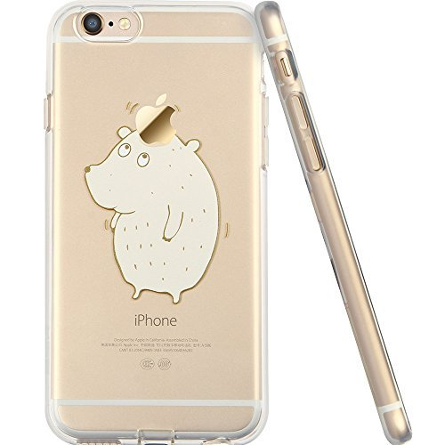 ESR iPhone 6 Case, iPhone 6s Case, Trasparente Morbido TPU Posteriore con Simpatico Motivo per 11,9 cm iPhone 6/6S (Cute Bear)