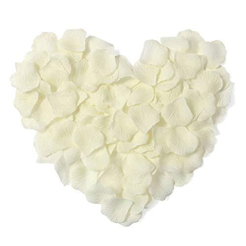 Rosenblüten,3000er Pack Silk Künstliche Blütenblätter für Hochzeit Valentinstag Romantische Kunst Dekoration Konfetti Weiß