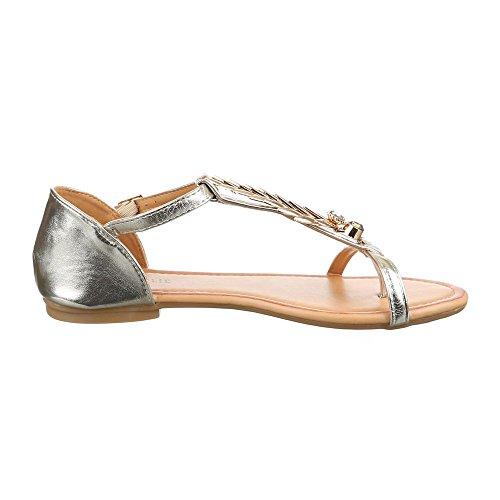 Ital-Design - Scarpe peep toe Donna Oro