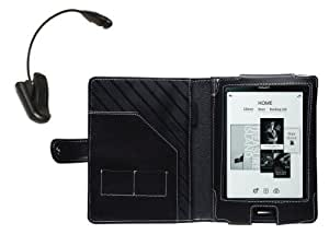 Navitech Black Leather Flip Carry Case & Night Reading Light For The Kobo Touch eReader (As sold by WHSmith)