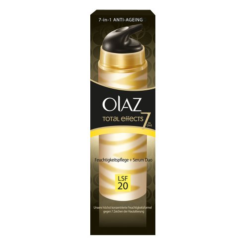 Olaz Total Effects Feuchtigkeitspflege + Serum Duo mit LSF 20, 40ml