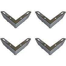 Juego de 4pies x simple cromo Muebles Patas De Metal Para Sofás, Sillas, Taburetes, gabinetes, Unidades: 55mm de altura aprox.