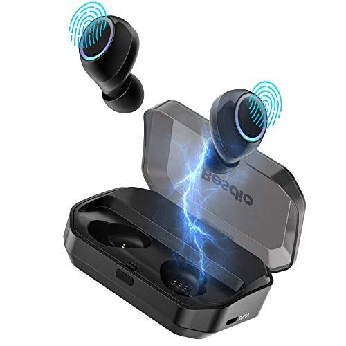 Bluetooth Kopfhörer Kabellos, BesDio Bluetooth Kopfhörer in Ear IPX7,120 Stunden Laufzeit Wireless Earbuds Touch Bluetooth 5.0,Sport Bluetooth Kopfhörer mit Ladekästchen und Integriertem Mikrofon*