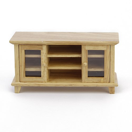 Generic Toy Dollhouse Wooden TV Cabinet