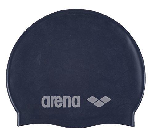 arena Kinder Unisex Wettkampf Badekappe Classic Silikon Junior (Verstärkter Rand, Weniger Verrutschen), Denim-Silver (71), One Size