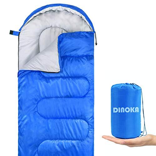 DINOKA Saco De Dormir Acampar - Bolsa Dormir 3 Estaciones