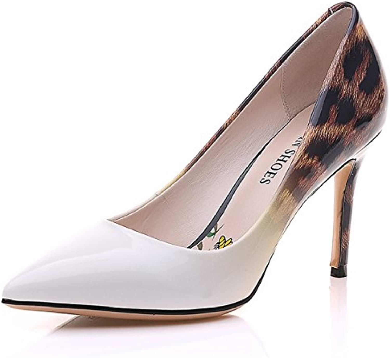 DIMAOL Damenschuhe Lackleder Herbst Winter Gladiator Heels Stiletto Heel Schuhe für Party & Abendkleid Mandelö
