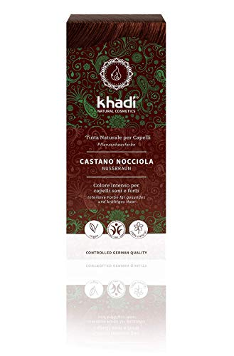 Khadi TP-4260378040152_1118-007 Tinte Herbal Color Castaño Avellana, 100 gr