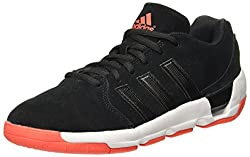Adidas Mens Daily Double 4 Low Black1/Black1/Hirere Leather Basketball Shoes - 10 UK/India (44.67 EU)