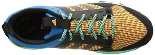 Adidas Outdoor Kanadia 7 Trail Running Shoe - Midnight Indigo / craie blanche / jaune solaire 6.5 Solar Blue/Black/Gold