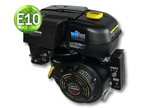 WilTec Motore a Benzina LIFAN 190 10,5kW (15PS) 25mm 420ccm con avviamento Elettrico Motore per Kart