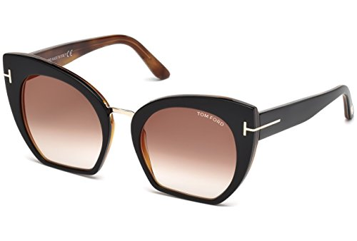 Tom Ford - SAMANTHA-02 FT 0553, Schmetterling, Acetat, Herrenbrillen, BLACK HAVANA/BROWN SHADED(05U), 55/21/140