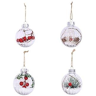 EFINNY Adorno de Bola de Navidad Colgante Adornos de Bola de Navidad Transparente a Prueba de roturas de plástico para decoración de Boda de Vacaciones de Fiesta de Invierno