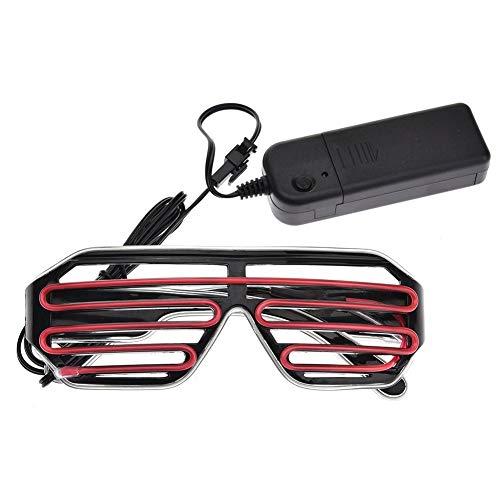 Coseyil Neonbrillen mit Leuchtenden Shuttern, EL-Draht-LED-Sonnenbrille, beleuchtet, DJ-Kostüm, Party 03