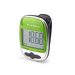 Idea Regalo - PINGKO Pedometro Contapassi Conta Passi Accuratamente Contapassi Sportivo Portatile Passi/distanza/calorie/ Contapassi per Fitness, Contatore di Calorie