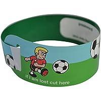 Braccialetti identificativi per bambini, tema: calcio, confezione da 20 pezzi