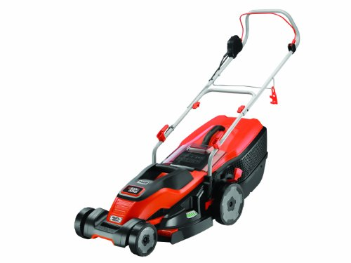 BLACK+DECKER Edge-Max Lawn Mower with 42 cm Cut Intelli Cable Management 45 L Compact Go Box, 1800 W