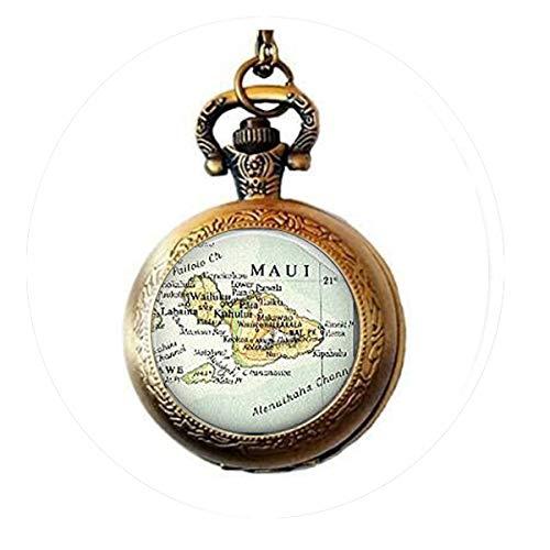 bab Geschenk, Maui Hawaii Ornament Geschenk, Weihnachtsdekoration, Hawaii Karte Charm-Ornament Taschenuhr-Halskette (Halloween-karte-sprüche Für Lehrer)