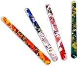 Pack of 4 Spiral Glitter Wand Tubes 32 cm Long Multicoloured By Playlearn