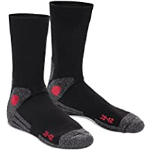 celodoro - 4 pares de calcetines para senderismo unisex - Suela de rizo - Gran calidad - Tallas de la 35 a la 50