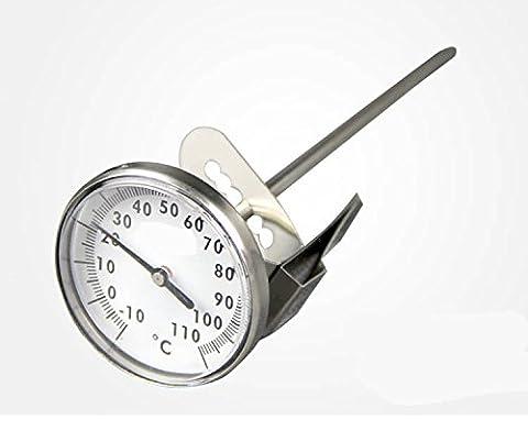 En acier inoxydable lait Mousseur Thermomètre