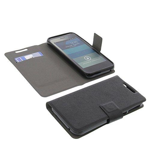 foto-kontor Tasche für Phicomm Clue M Book Style Ultra-dünn Schutz Hülle Buch Schwarz