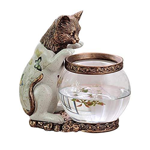 IAIZI Aquarium Ornament Aquarium Fischen Katze Goldfisch Aquarium Tier Dekoration Geschenk (Der Ein Zeichen Wertschätzung)
