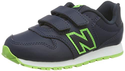 New Balance Unisex-Kinder KV500V1 Sneaker, Blau Navy/Green, 35 EU