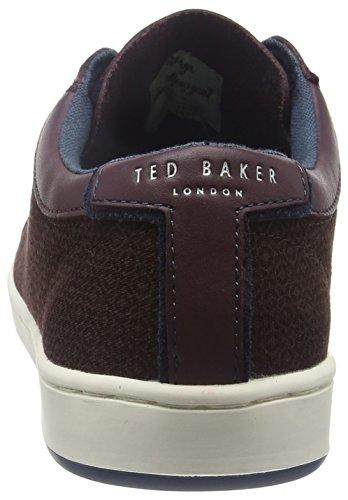 Ted Baker Ternur, Sneakers Basses Homme Rouge (Dark Red)