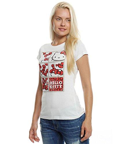 Hello Kitty Donne Maglietta manica corta - bianco - L