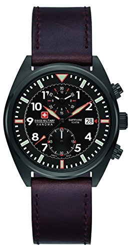 Swiss-Military-Mens-SM34302AEUH03S-Quartz-Watch-with-Black-Dial-Analogue-Display-and-Leather-Strap
