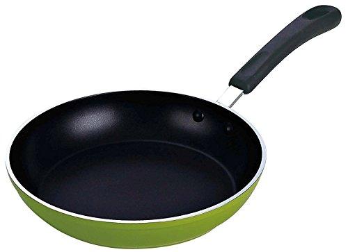 Valentinstag-Geschenk für geliebtes Aluminium-Non-Stick Fry Pan (Induktion und Gas kompatibel) Grüne Farbe Größe 7 X 12,5 Zoll -