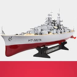 XUEQIN Niños Barco de juguete eléctrico Barco de control remoto de gran tamaño Barco rápido de lancha rápida Barco de guerra Barco de aviación Portaaviones Modelo militar Barco de control remoto ( Color : 4 )