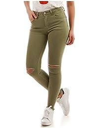 La Modeuse - Jeans slim destroy aux genoux
