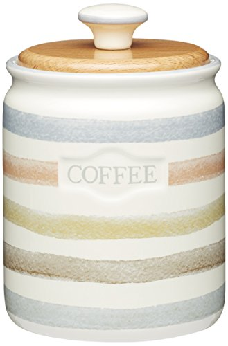 Kitchen Craft Classic Collection gestreift Keramik Kaffee Vorratsdose, 800 ml (28 FL...