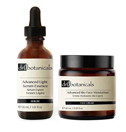 Dr Botanicals DBALSABF - Serum facial ligero avanzado + crema hidratante facial bio avanzada