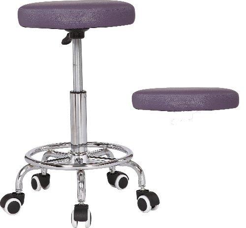 Massage Impérial RIO Chrome Gas Lift Tabouret de massage Beauty Therapy Reiki Salon Manicure Tattoo pivotant Tabourets président Table de massage portable - Violet