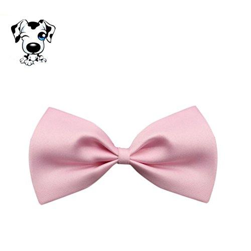Hund Welpen Katze Kätzchen Pet Spielzeug Kind Fliege Krawatte Kleidung (Rosa) (Mais Hund Kostüme)