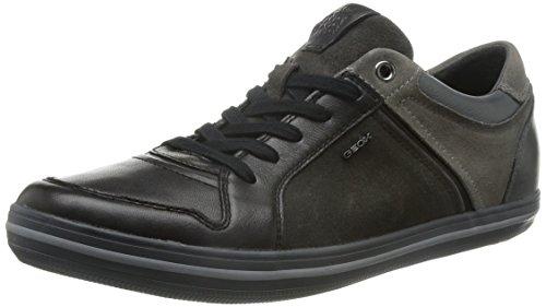 Geox U Box D, Sneaker, Uomo, Multicolor (Black/Grey), 45