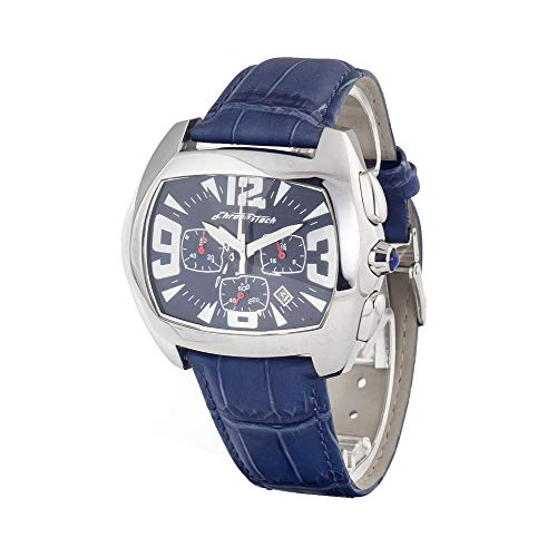 Chronotech orologio analogico quarzo uomo con cinturino in pelle ct2185j-02