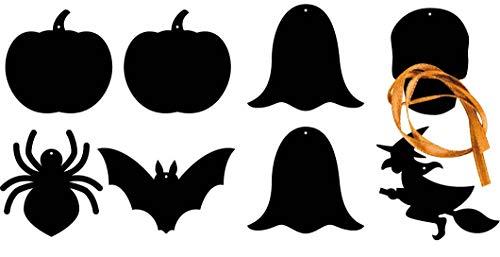 C' Top Formen Halloween Links Kratzfest 8 Rechts 10 cm 8 Stück + Eiskratzer - Megacrea DIY