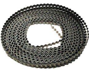Bau-Wellenbandeisen, blank, 50 m Rolle, B: 18 mm x 0,90 mm, geeignet für Holzstärken von 30-40 mm