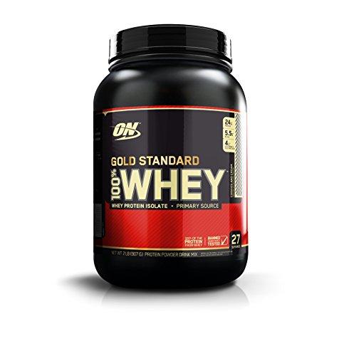 Optimum Nutrition Gold Standard 100% Whey Proteína en Polvo, Galletas y Crema - 908 g