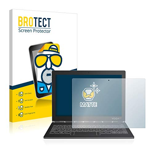 BROTECT Schutzfolie Matt für Lenovo Yoga Book C930 (Bildschirm) Bildschirmschutzfolie [2er Pack] - Anti-Reflex Bildschirmfolie, Anti-Fingerprint, Anti-Kratzer