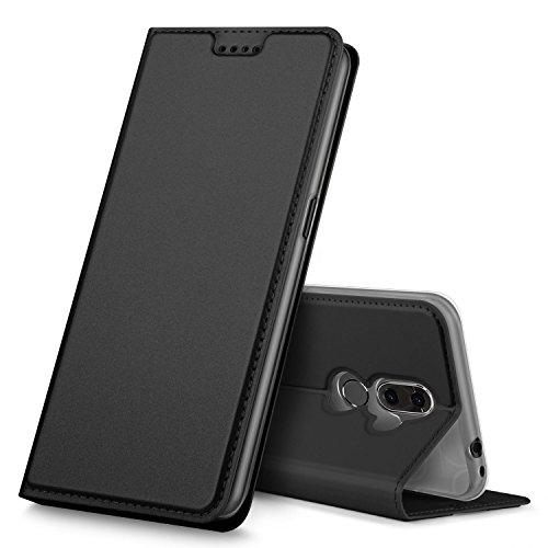 GeeMai Alcatel 3V Hülle, Premium Flip Case Tasche Cover Hüllen mit Magnetverschluss [Standfunktion] Schutzhülle Handyhülle für Alcatel 3V Smartphone, Schwarz